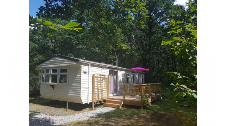 mobile home woodland camping