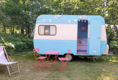 vintage caravan camping